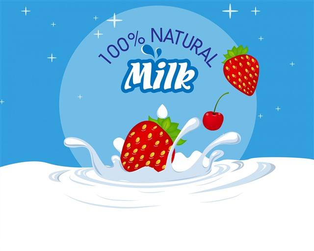 草莓牛奶效果图