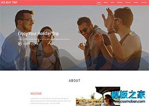 旅游企业网站模板