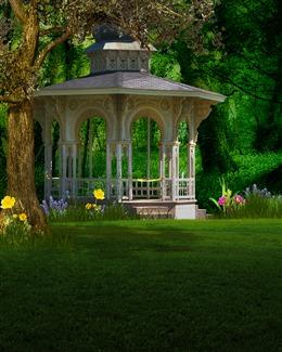花园凉亭图片