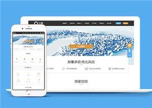 PC端淘宝店铺运营平台网站模板