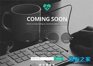 全屏背景COMING SOON网站模板