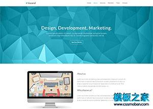 web设计作品案例bootstrap模板