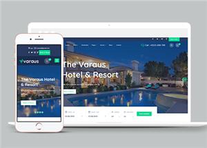 旅游酒店HTML5网站模板