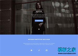 时装模特html网页模板