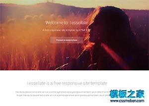 个人相册网站html5模板