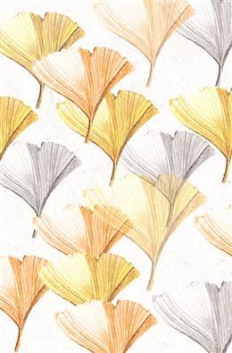 唯美手绘银杏叶背景