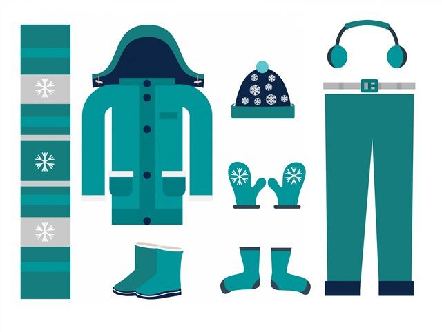 冬季服装矢量图