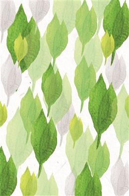 手绘森系植物背景图片