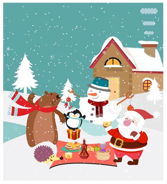 圣诞节儿童画
