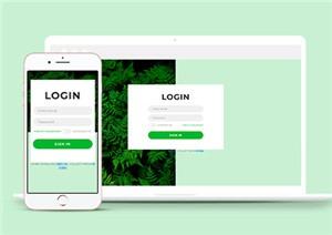 LOGIN登录页面HTML5模板