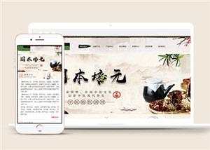 古典中国风健康养生网站模板