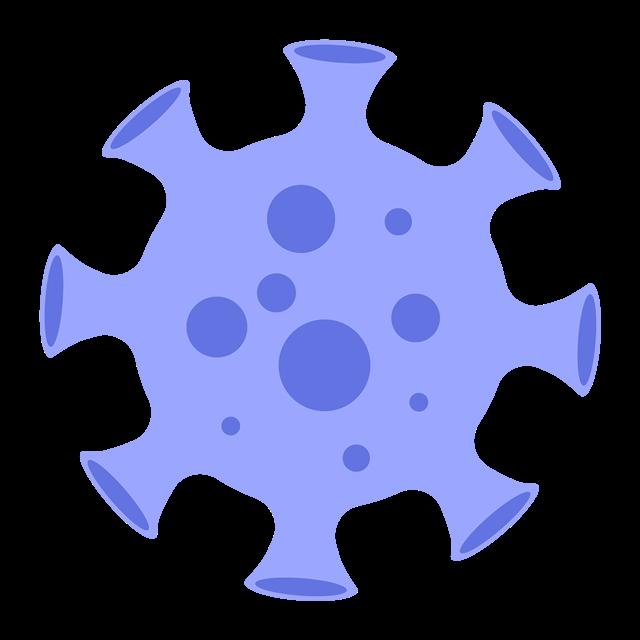 蓝色扁平化病毒元素