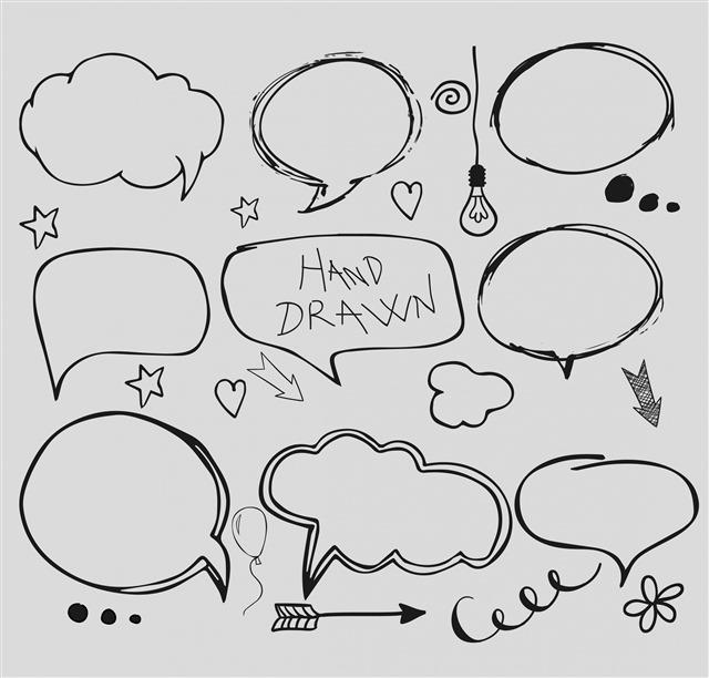 手绘素描对话框