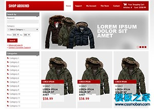 线上服装商城购物网站模板