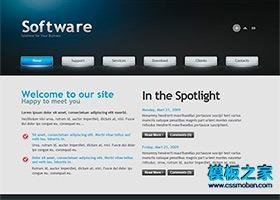 互联网软件产品网站模板