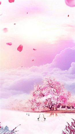 ins淡紫色超仙气背景图