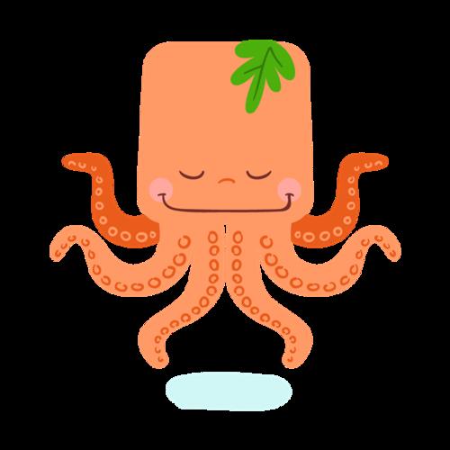 手绘卡通章鱼图片