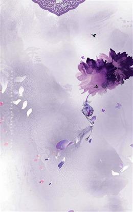 紫色古风背景图片