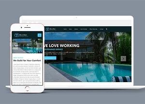 海滩度假山庄酒店网站模板