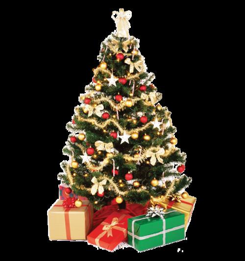卡通灯串圣诞树
