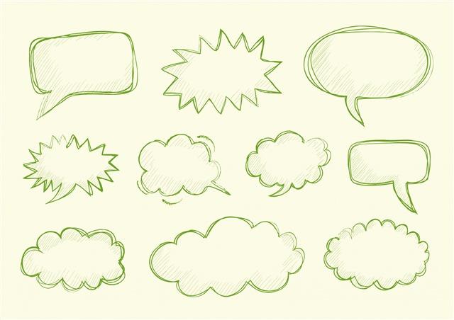 手绘对话标签框