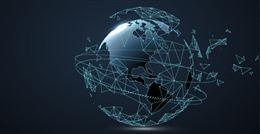 三维抽象地球科技背景