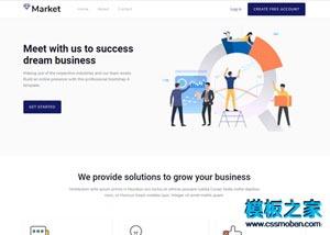 市场营销推广公司网站模板