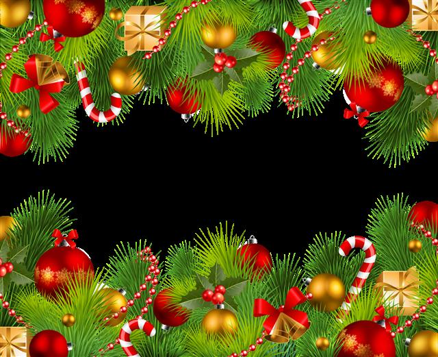 圣诞边框装饰