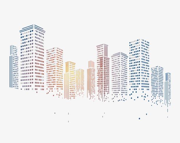 科技感粒子城市大楼