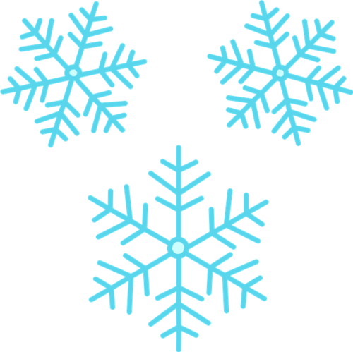圣诞节扁平雪花元素