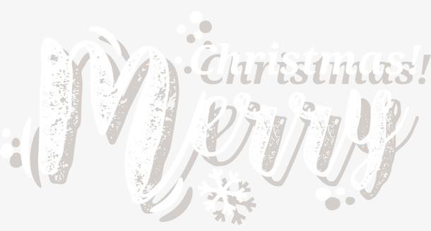 圣诞快乐手写艺术字