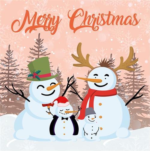 圣诞贺卡封面插画