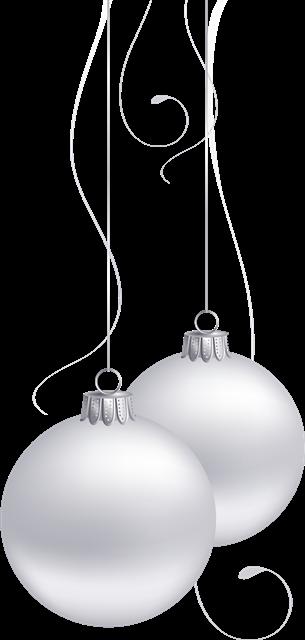 白色圣诞装饰球