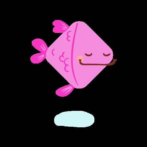 卡通手绘海洋小鱼