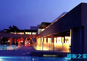 度假酒店一体式服务网站模板
