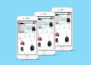 女性购物手机商城wap网站模板