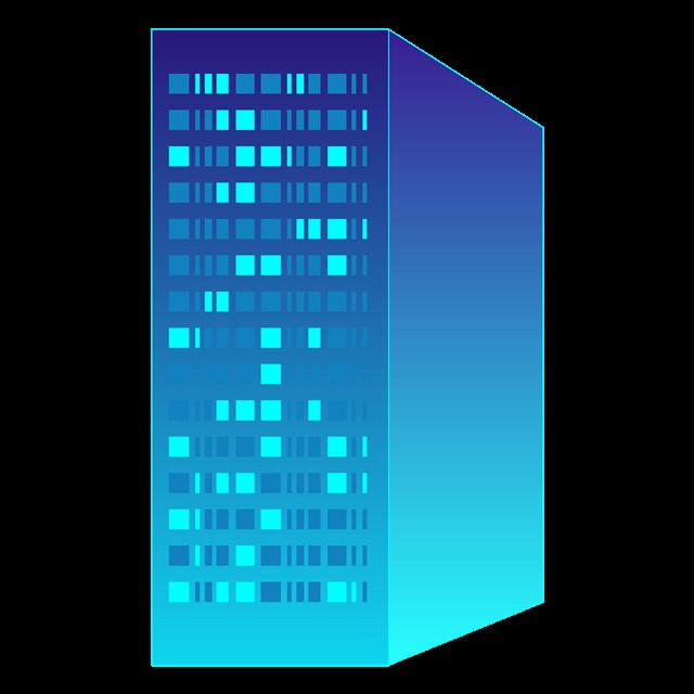 科技大楼立体插画元素
