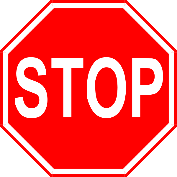 STOP停车标志矢量图标