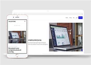 电脑科技企业自适应网站HTML5模板