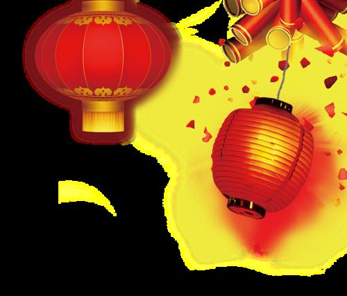 新春灯笼鞭炮