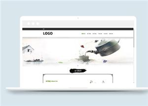 中国水墨风格绿色茶叶销售企业网站模板