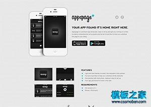 手机app产品展示官网模板