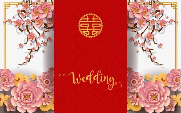 婚礼海报边框