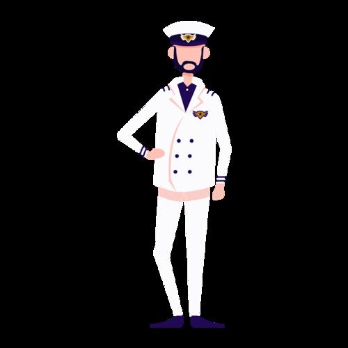海军军人卡通简笔画