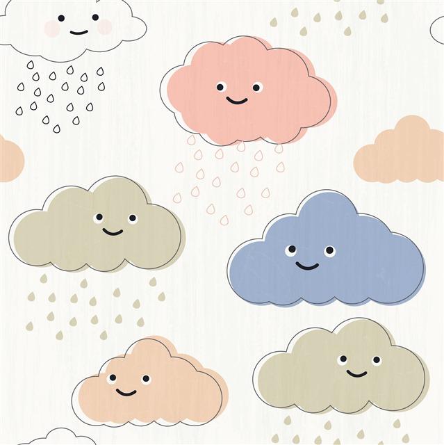 卡通可爱云朵背景图片