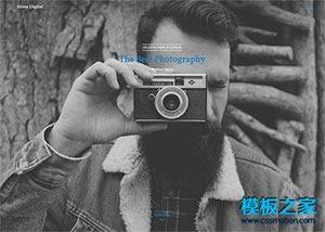 摄影师作品展示html5模板