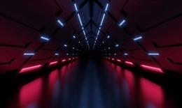 三维空间隧道科技背景