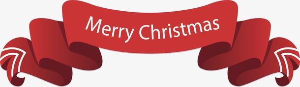 圣诞红丝带