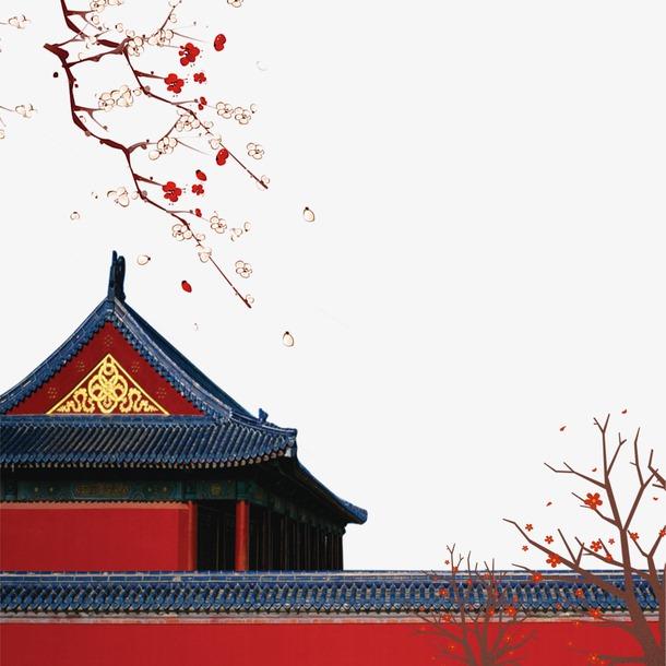 寒梅故宫城墙图片