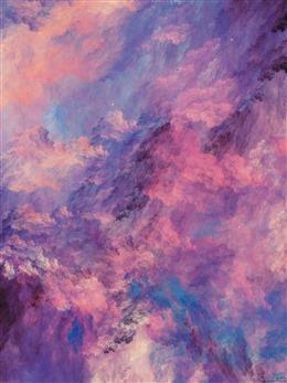粉色梦幻云层背景